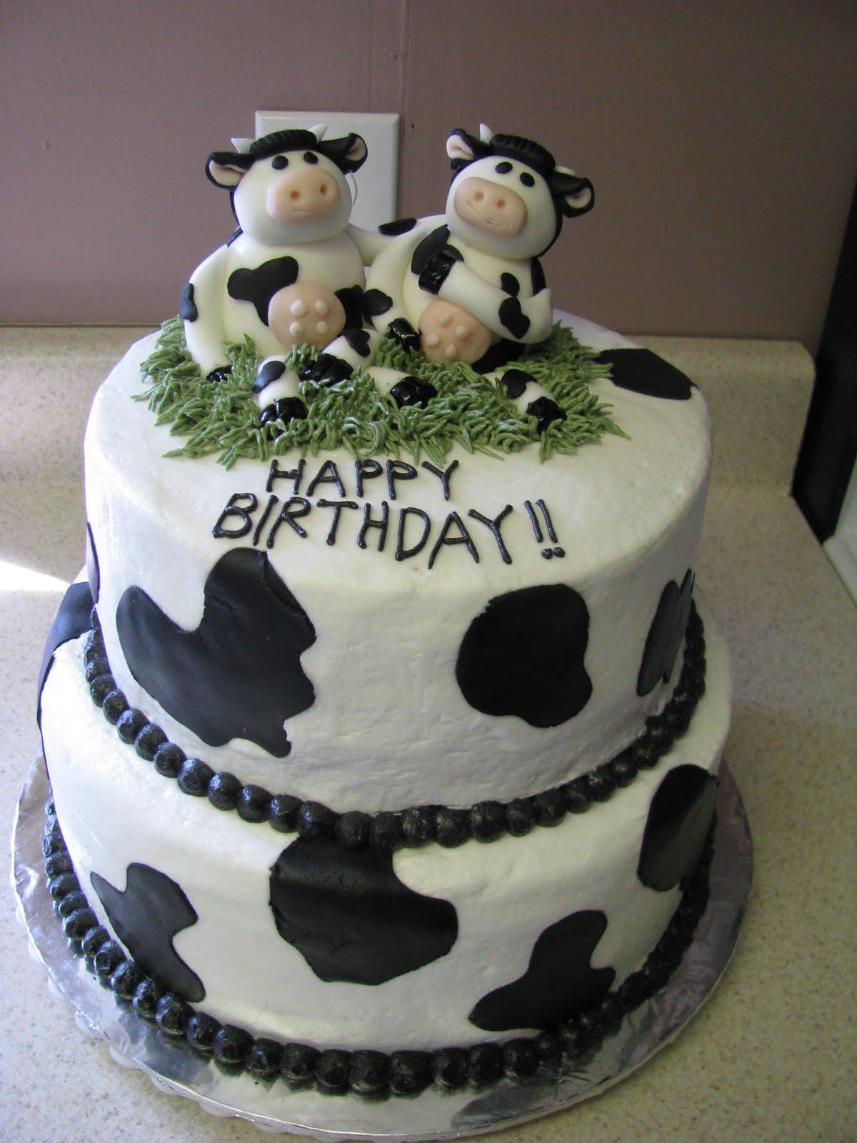 Excellent Cow Cakes Decoration Ideas Little Birthday Cakes Funny Birthday Cards Online Overcheapnameinfo