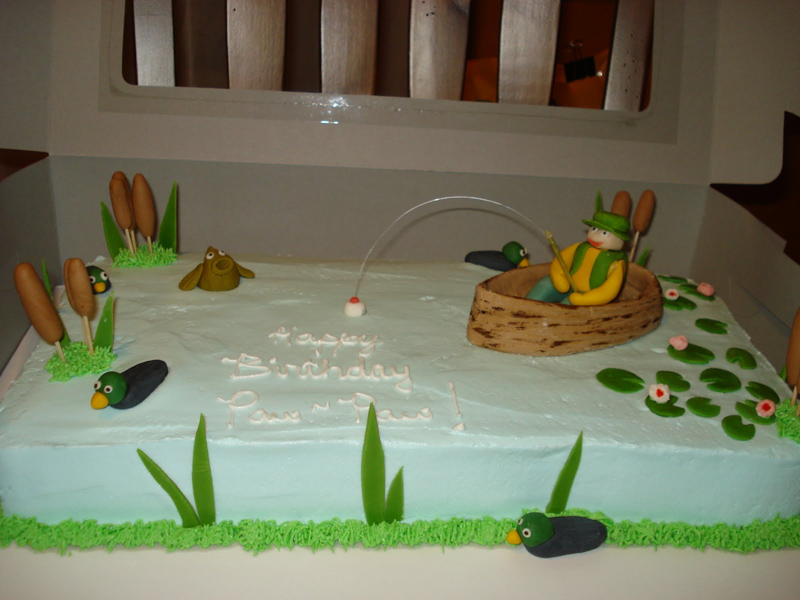 Fabulous Fishing Cakes Decoration Ideas Little Birthday Cakes Funny Birthday Cards Online Alyptdamsfinfo