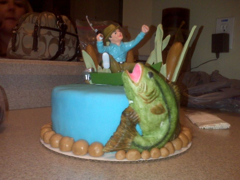 Tremendous Fishing Cakes Decoration Ideas Little Birthday Cakes Funny Birthday Cards Online Elaedamsfinfo