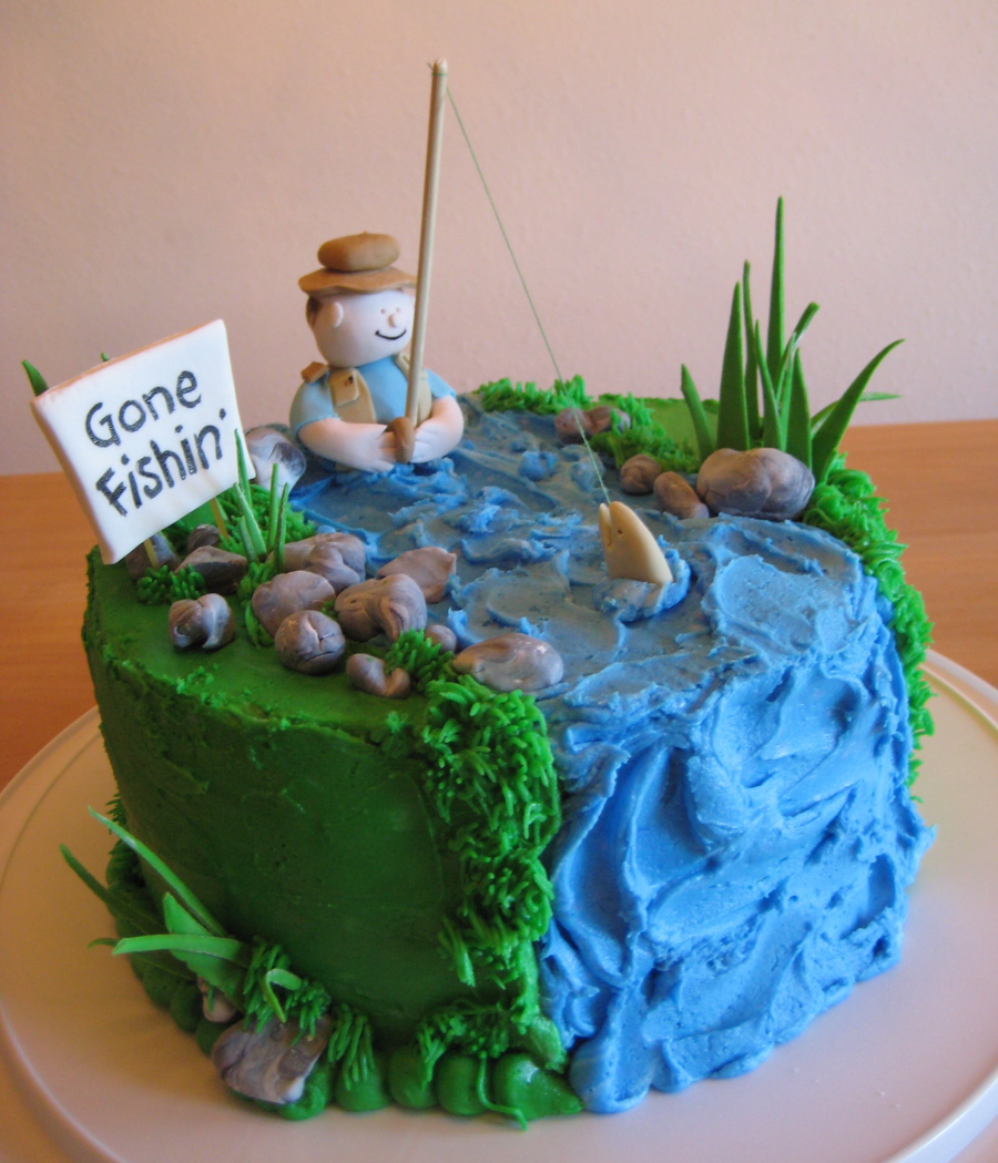 Remarkable Fishing Cakes Decoration Ideas Little Birthday Cakes Funny Birthday Cards Online Elaedamsfinfo