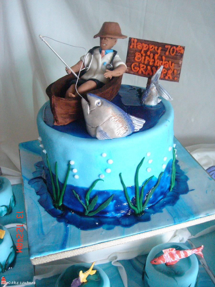 Surprising Fishing Cakes Decoration Ideas Little Birthday Cakes Funny Birthday Cards Online Elaedamsfinfo