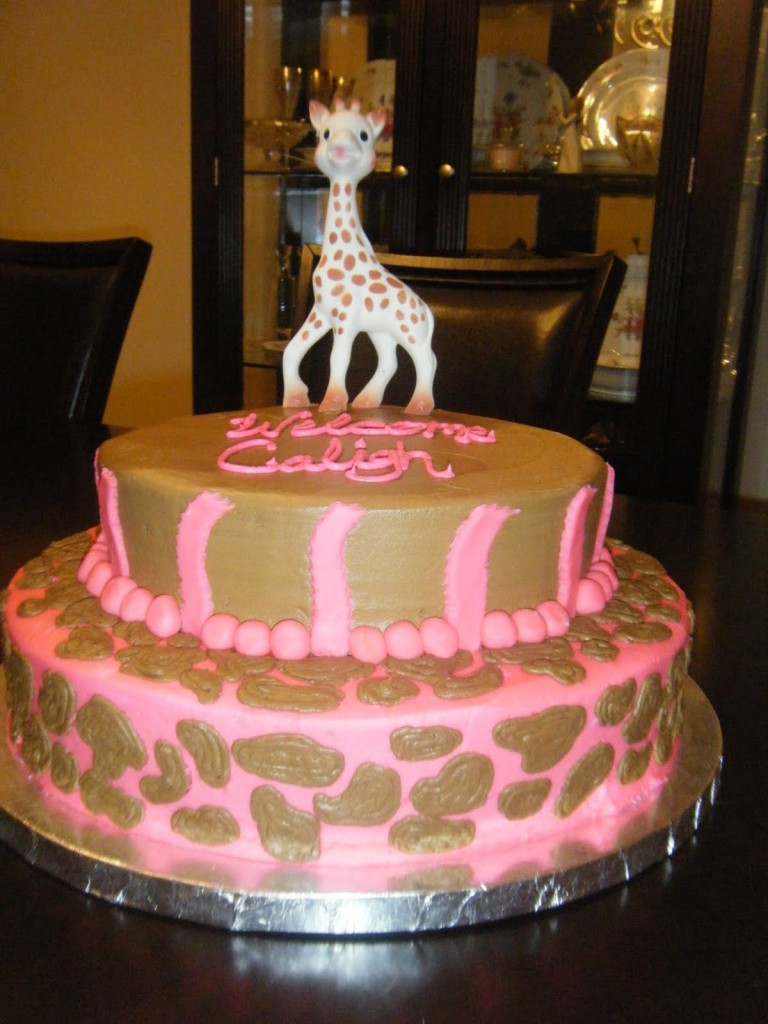 Giraffe Baby Shower Cakes