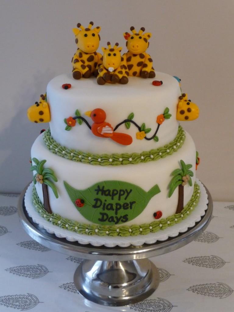 Giraffe Diaper Cakes