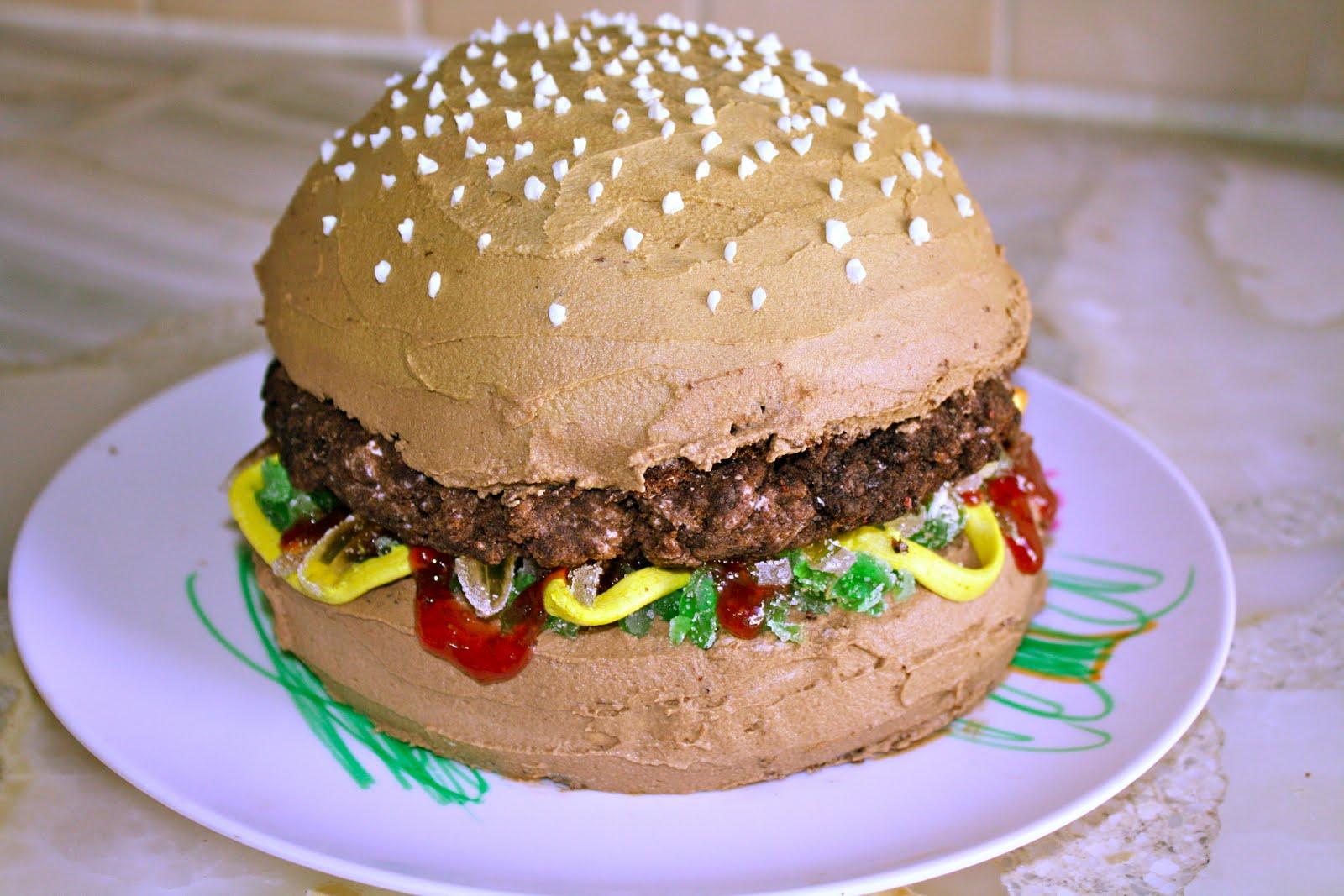 Cool Hamburger Cakes Decoration Ideas Little Birthday Cakes Funny Birthday Cards Online Inifodamsfinfo