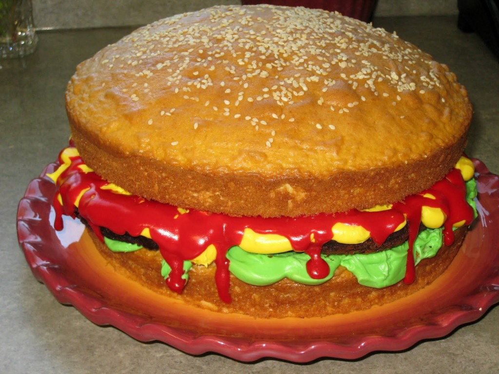Hamburger Cakes Photos