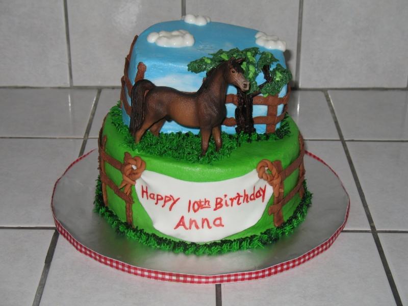 Horse Birthday Cake Image