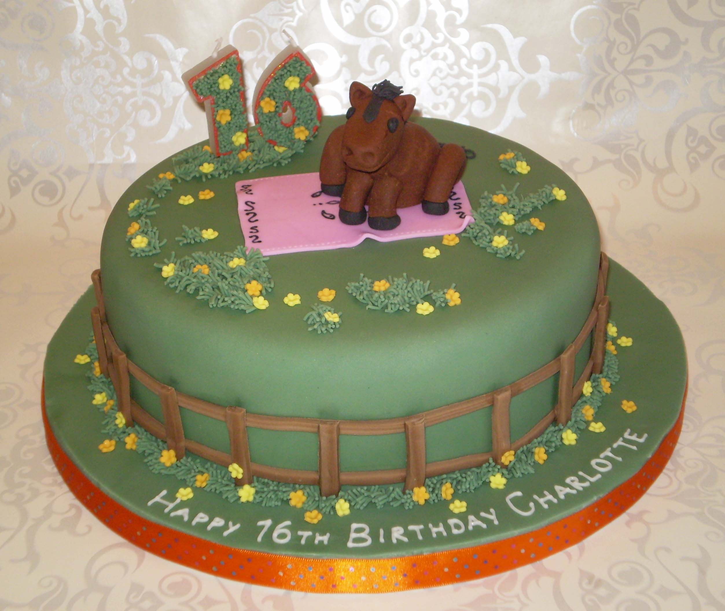 Pictures Horse Racing Cake Men S 60th Novelty Birthday Cakes