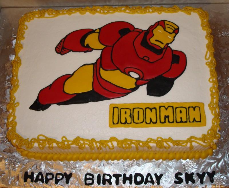 Iron Man Cake Decorations