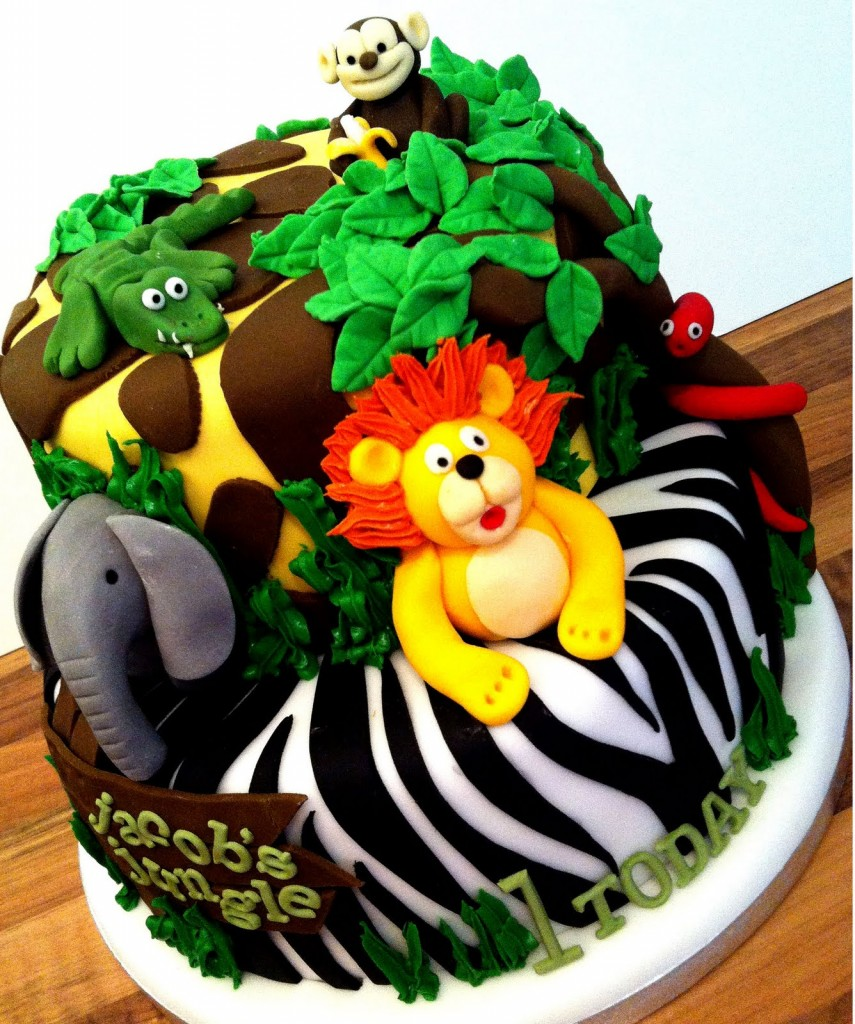Jungle Animal Cakes