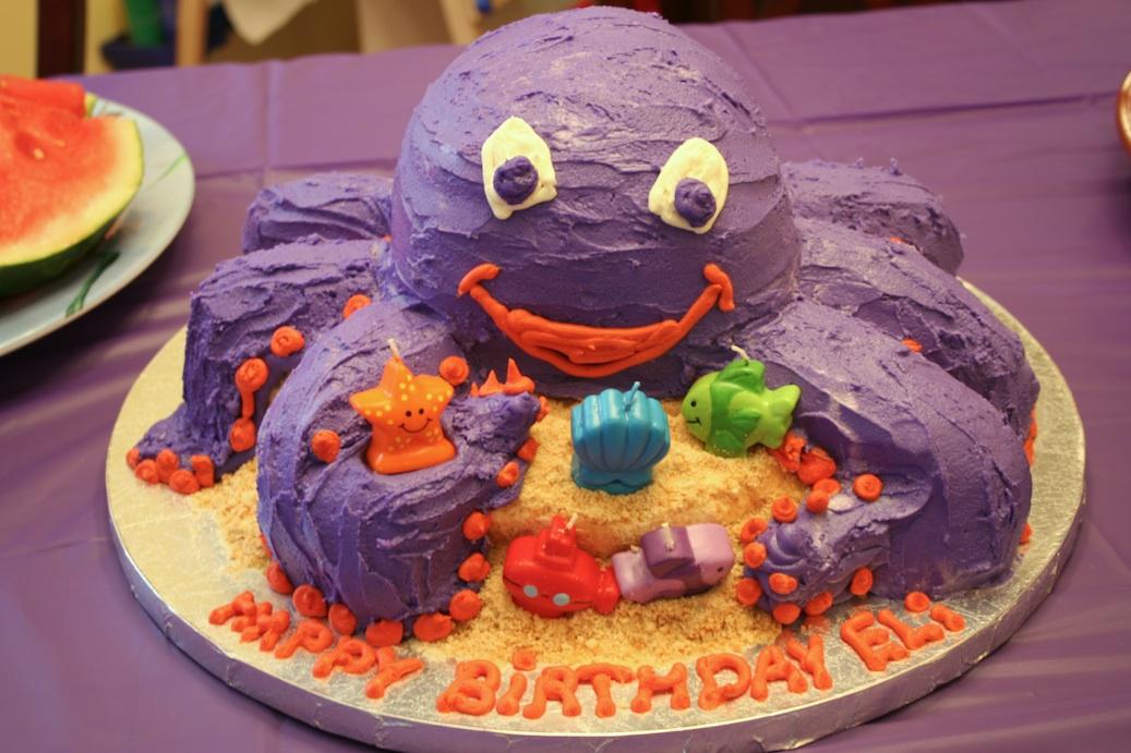 Wondrous Octopus Cakes Decoration Ideas Little Birthday Cakes Funny Birthday Cards Online Inifodamsfinfo