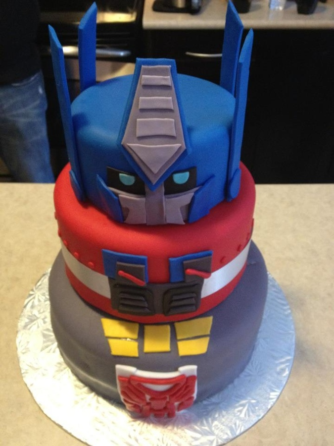 Optimus Prime Cake For Kids