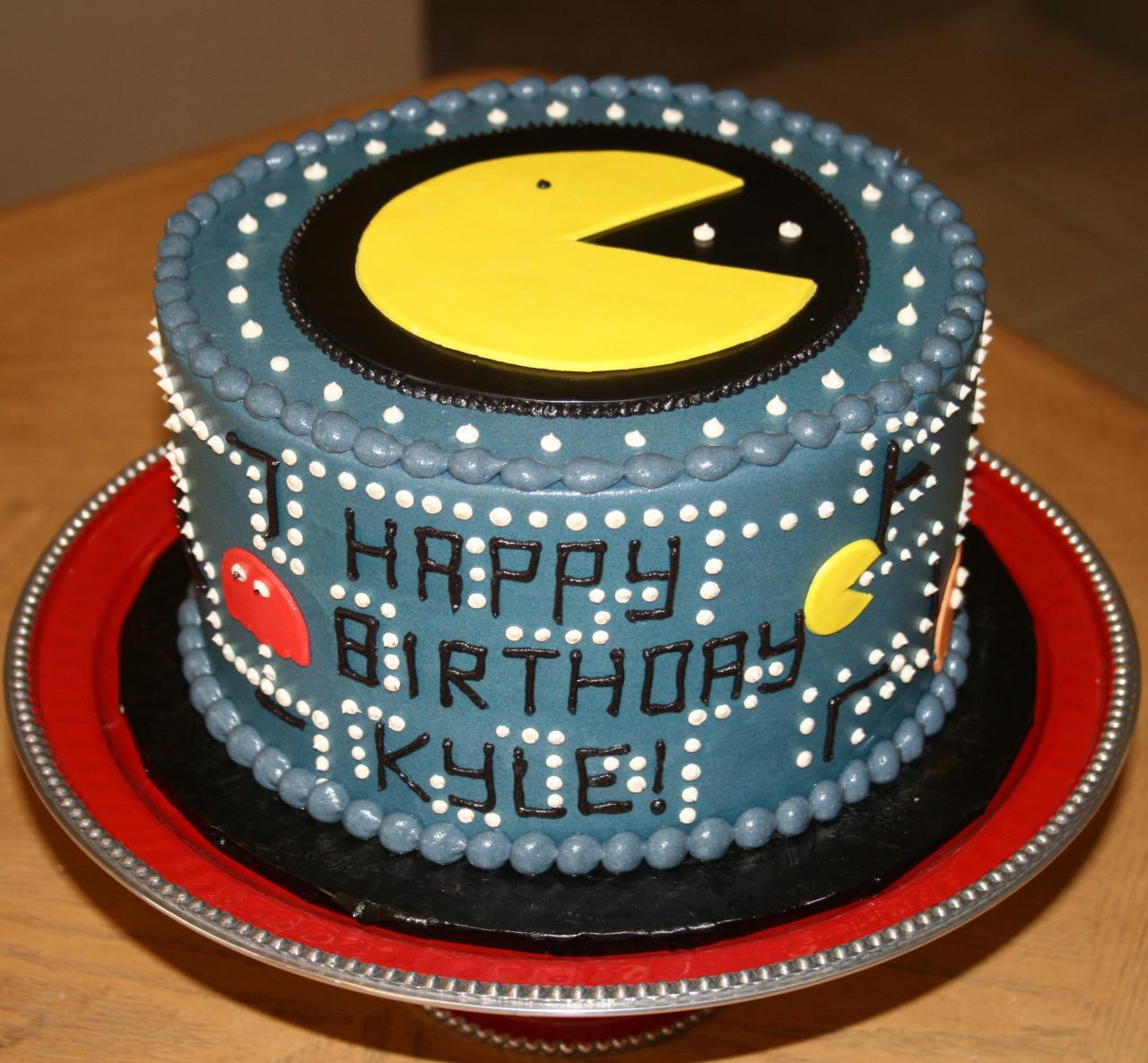 Awe Inspiring Pacman Cakes Decoration Ideas Little Birthday Cakes Funny Birthday Cards Online Alyptdamsfinfo