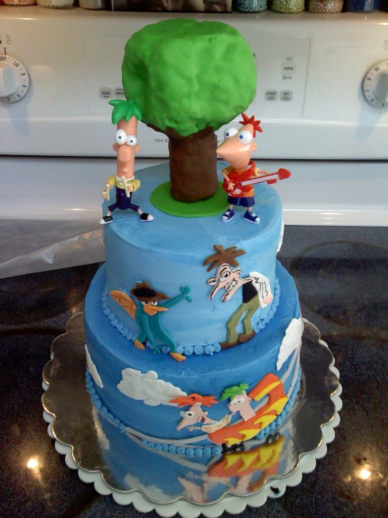 Phineas and Ferb Birthday Cake Pictures