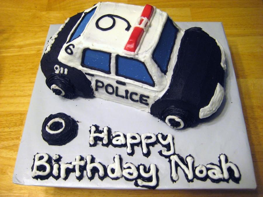 Police Car Cakes