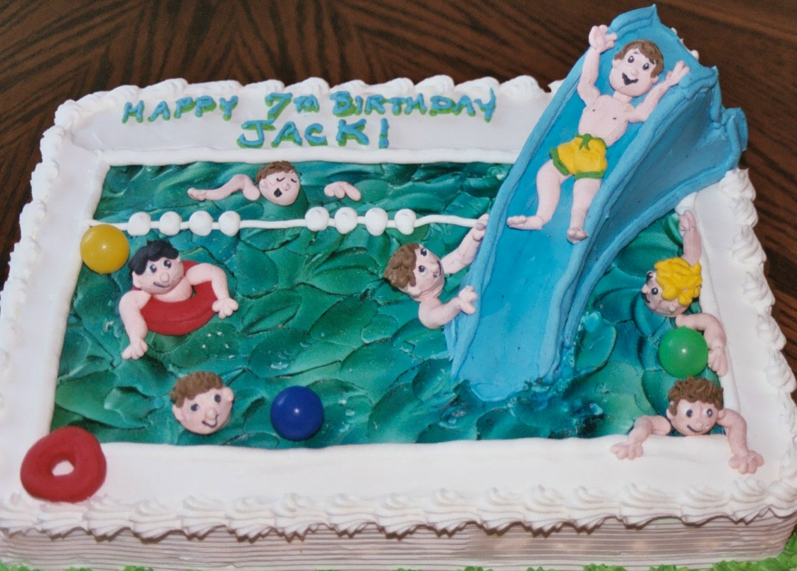 Awe Inspiring Pool Party Cakes Decoration Ideas Little Birthday Cakes Personalised Birthday Cards Petedlily Jamesorg
