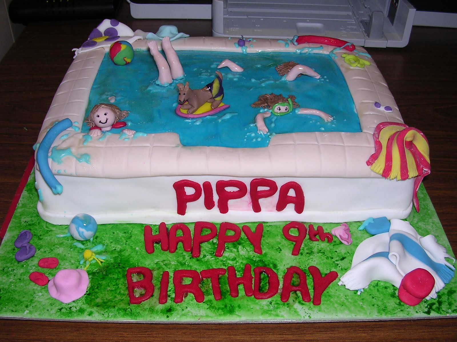 Pool Party Ideas For Kids Birthday Cake