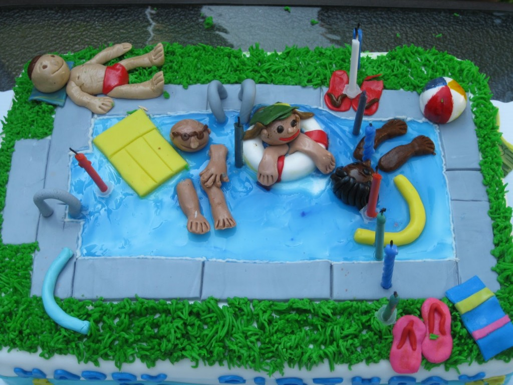 Image of Pool Party Themed Cakes