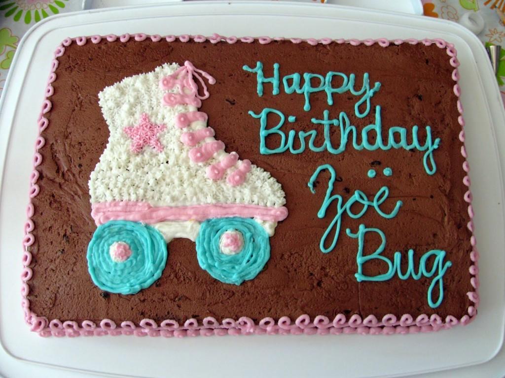Roller Skate Birthday Cakes
