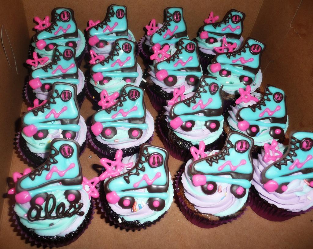 Roller Skate Cupcake Cakes