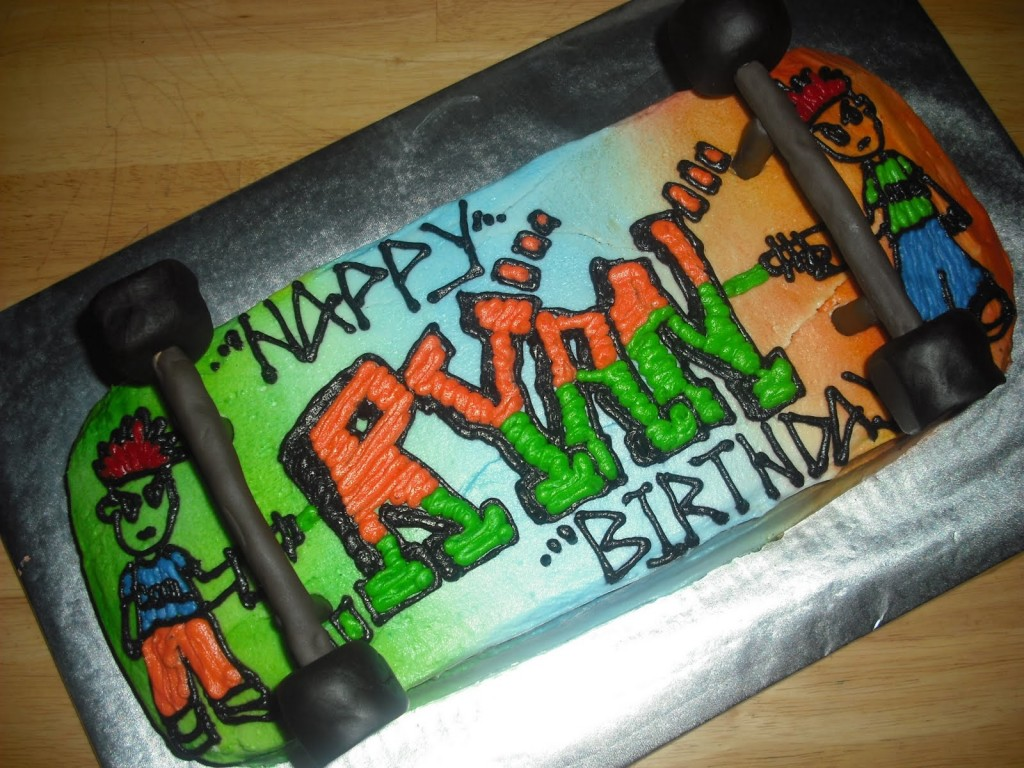 Skateboard Birthday Cakes