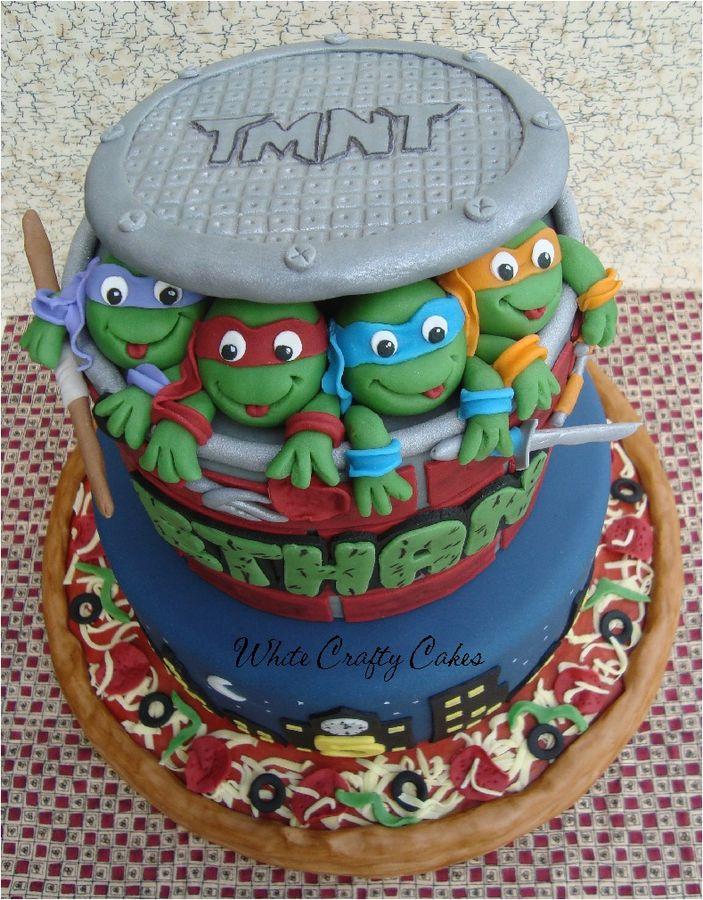 Miraculous Ninja Turtle Cakes Decoration Ideas Little Birthday Cakes Personalised Birthday Cards Cominlily Jamesorg