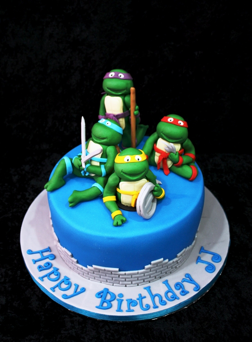 Phenomenal Ninja Turtle Cakes Decoration Ideas Little Birthday Cakes Birthday Cards Printable Riciscafe Filternl