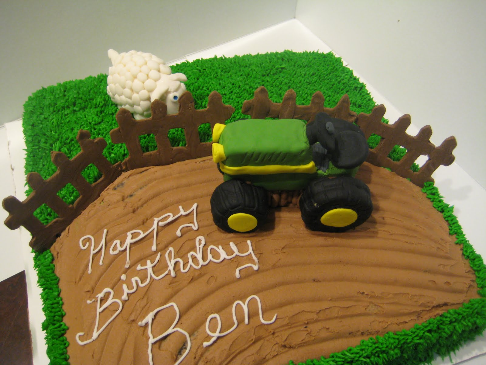 Terrific Tractor Cakes Decoration Ideas Little Birthday Cakes Funny Birthday Cards Online Elaedamsfinfo