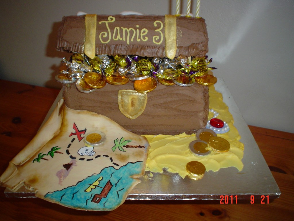 Treasure Chest Cakes For kids