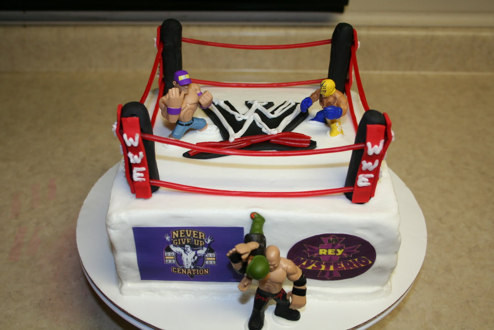 Superb Wwe Cakes Decoration Ideas Little Birthday Cakes Personalised Birthday Cards Cominlily Jamesorg