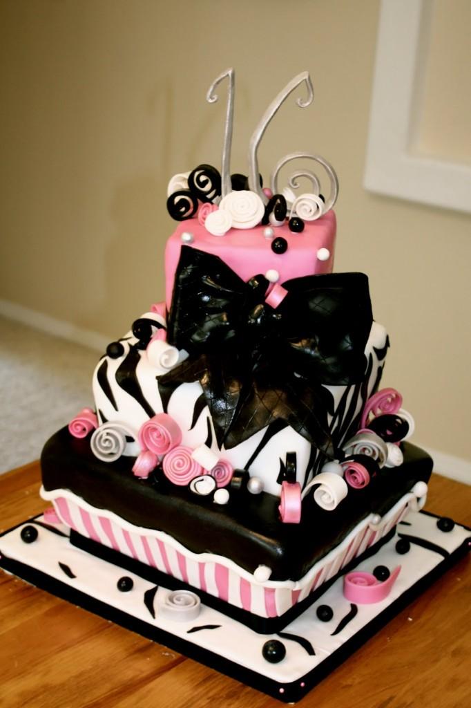 Zebra Print Birthday Cakes