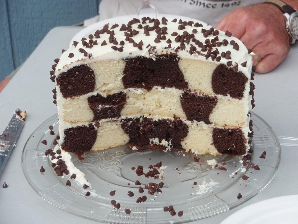 Checkerboard Cake Design