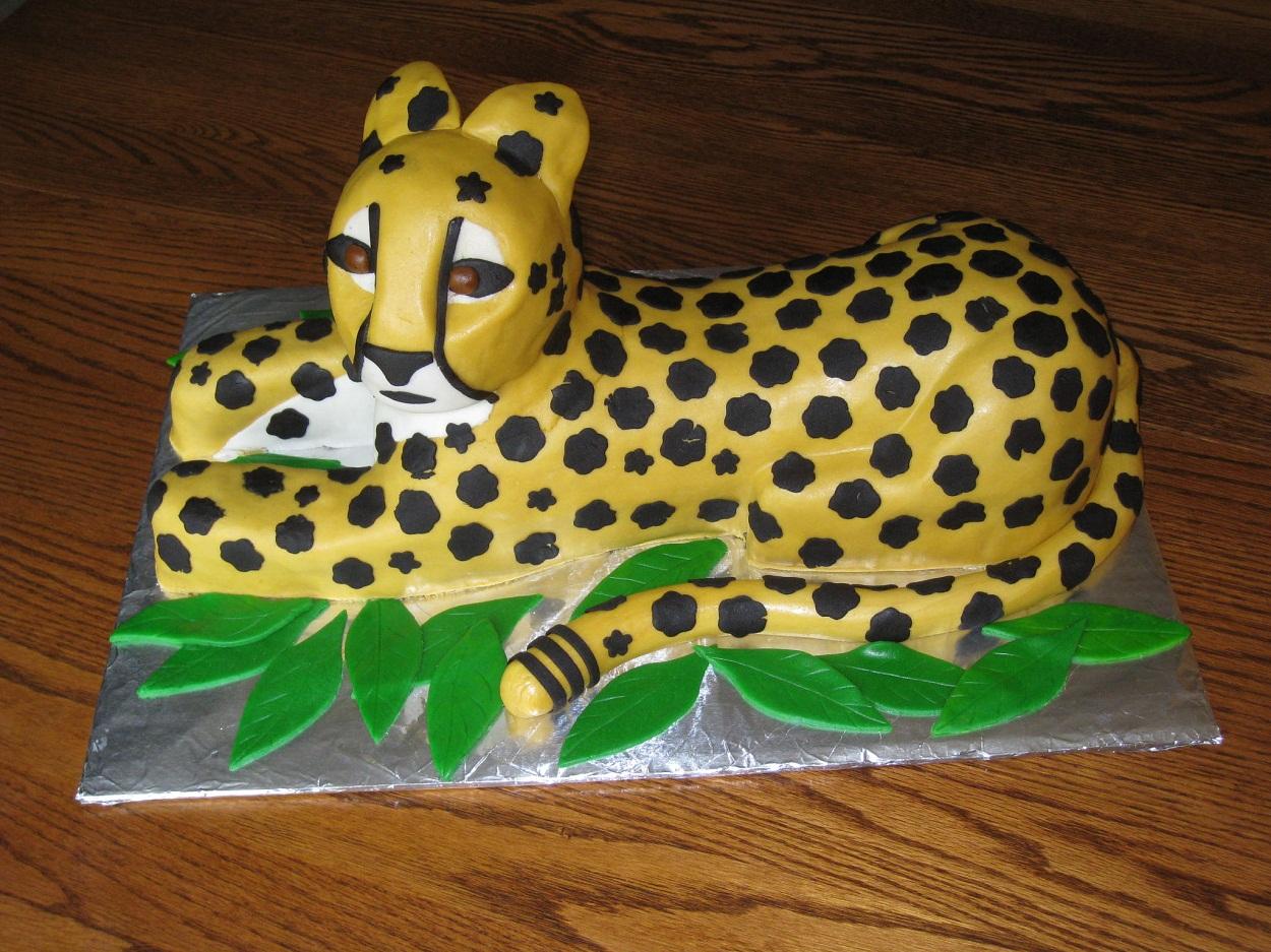 Fine Cheetah Cakes Decoration Ideas Little Birthday Cakes Personalised Birthday Cards Vishlily Jamesorg
