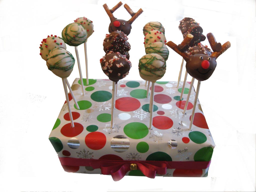 Christmas Cakes Pops