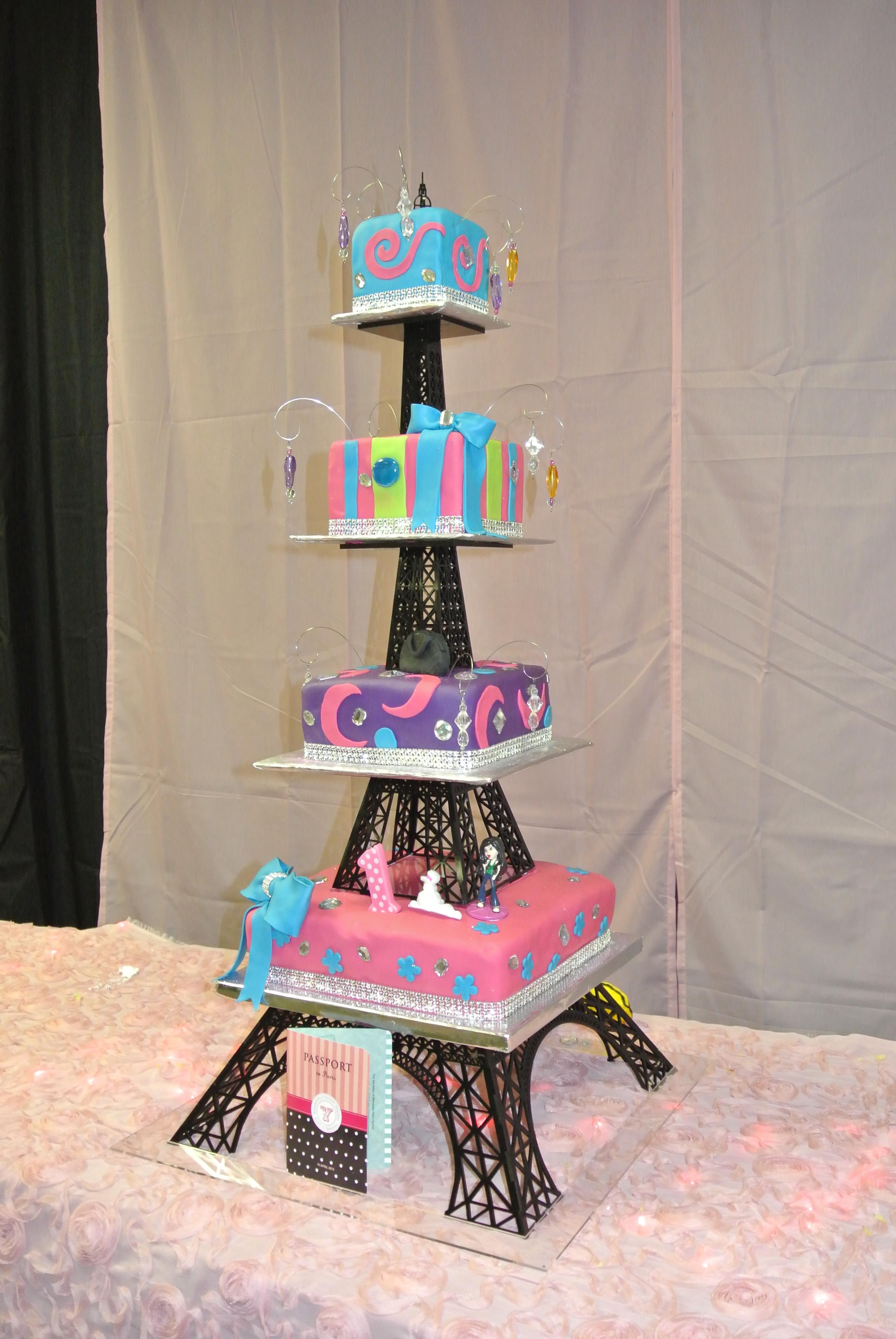 Miraculous Eiffel Tower Cakes Decoration Ideas Little Birthday Cakes Funny Birthday Cards Online Aeocydamsfinfo
