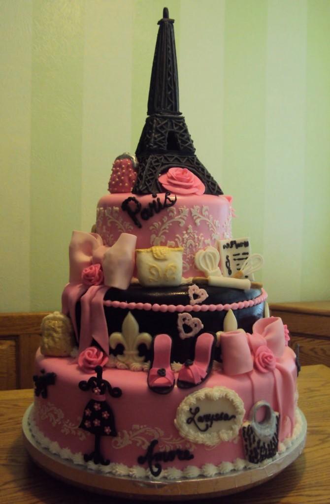 Eiffel Tower Cake Decorations