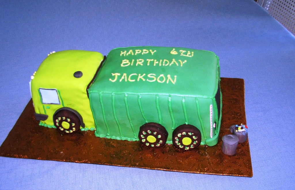 Garbage Truck Birthday Cakes
