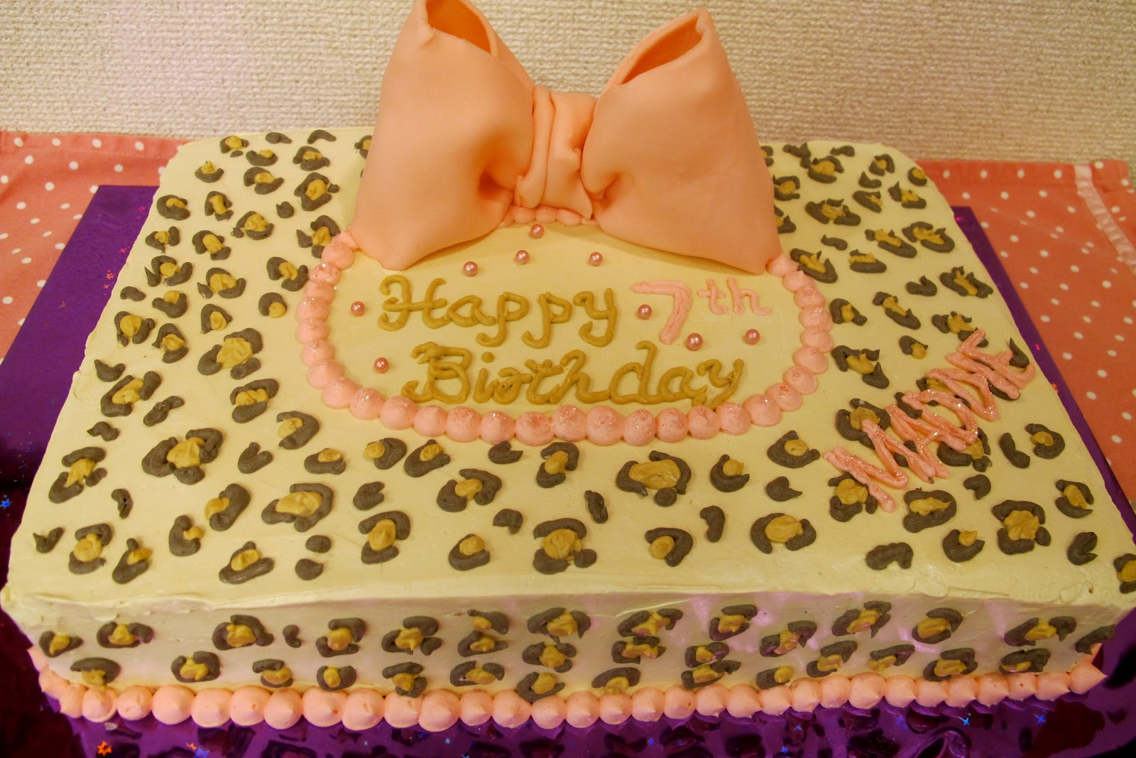 Enjoyable Leopard Print Cakes Decoration Ideas Little Birthday Cakes Funny Birthday Cards Online Overcheapnameinfo