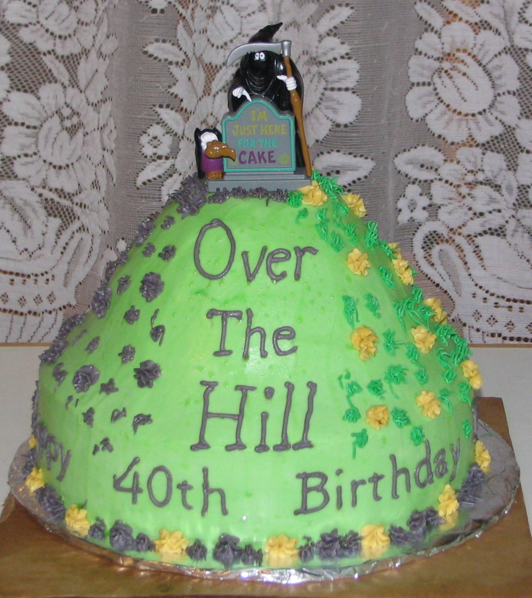 Fantastic Over The Hill Cakes Decoration Ideas Little Birthday Cakes Funny Birthday Cards Online Aeocydamsfinfo