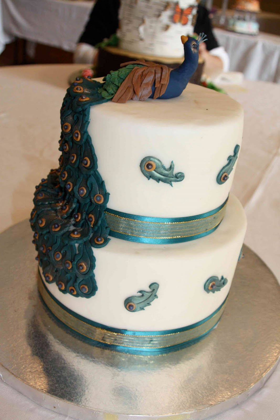 Stupendous Peacock Cakes Decoration Ideas Little Birthday Cakes Personalised Birthday Cards Veneteletsinfo
