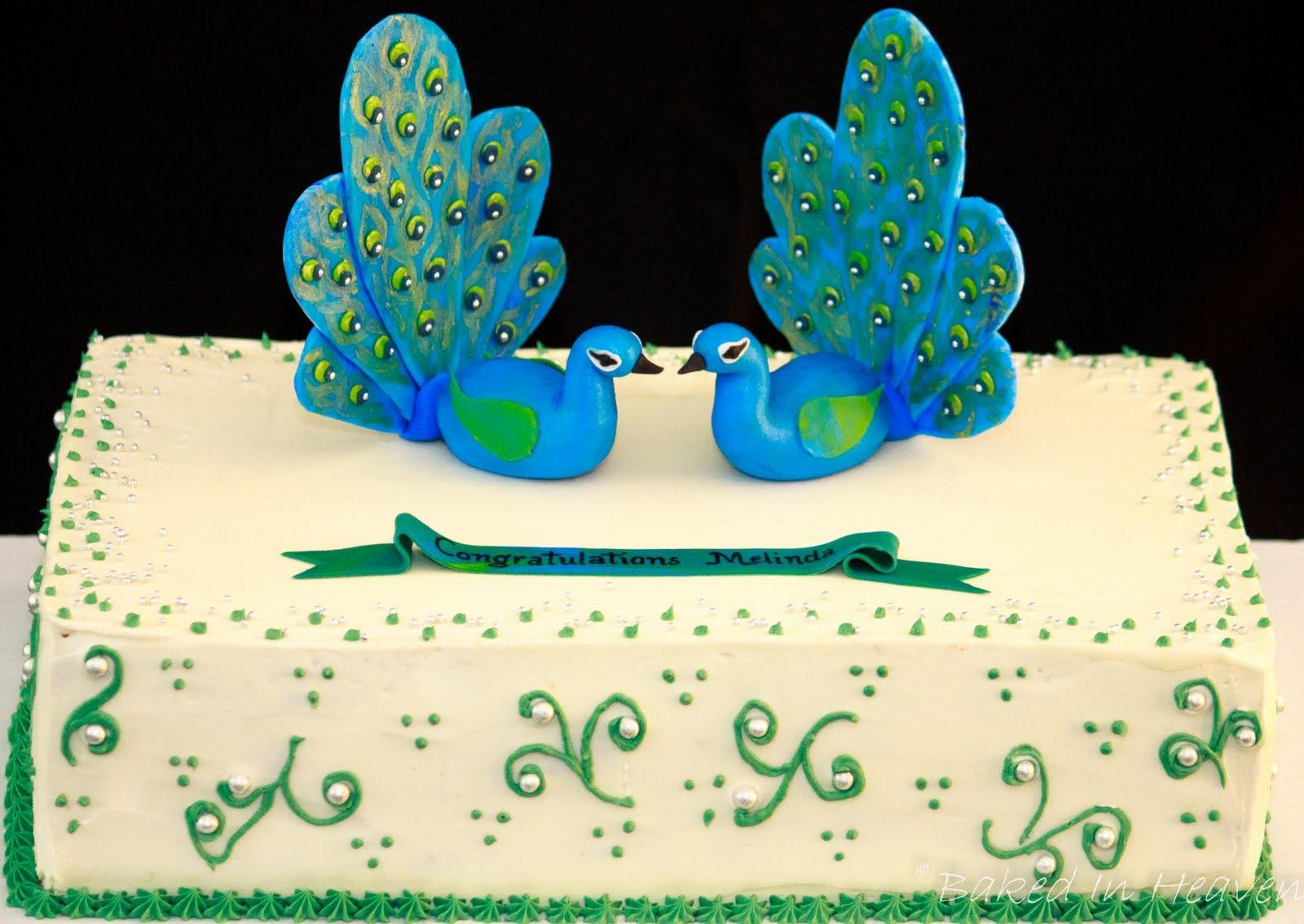 Surprising Peacock Cakes Decoration Ideas Little Birthday Cakes Personalised Birthday Cards Veneteletsinfo