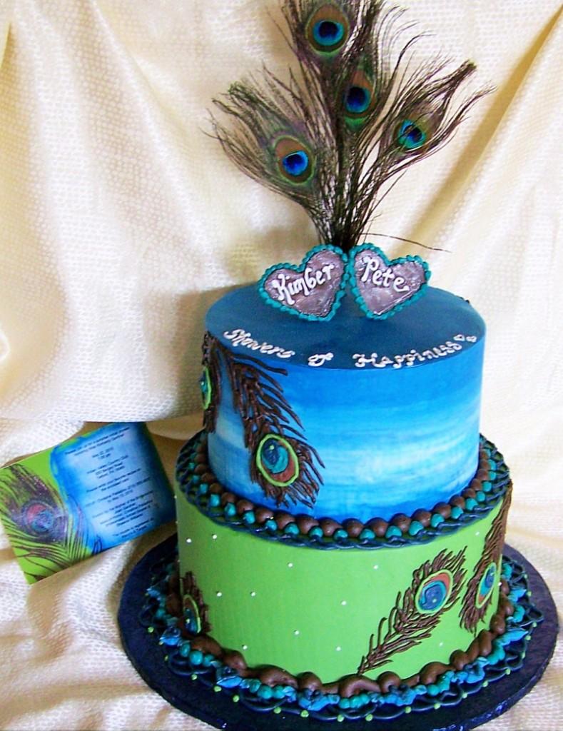 Peacock Cake Topper