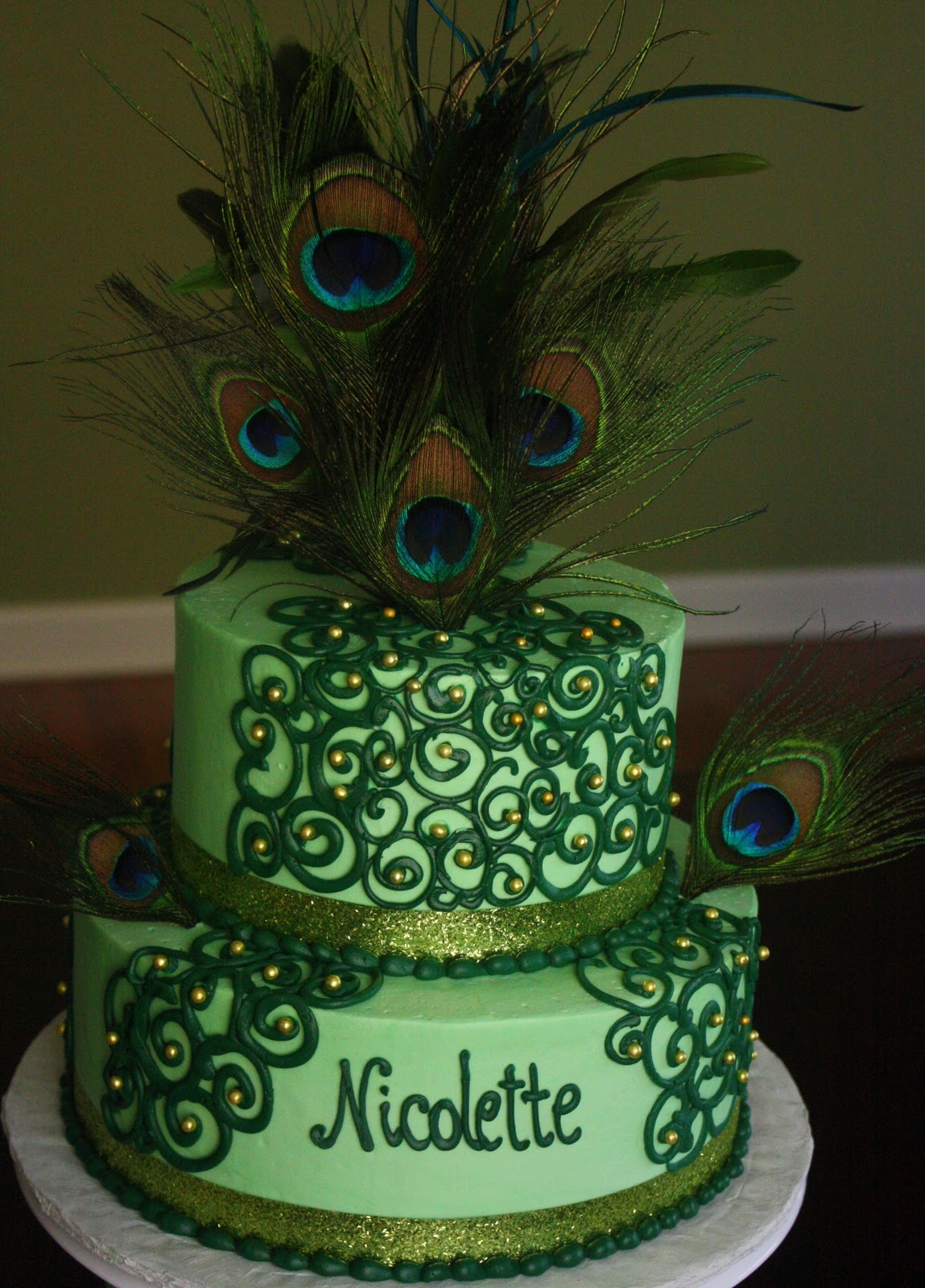 Swell Peacock Cakes Decoration Ideas Little Birthday Cakes Personalised Birthday Cards Veneteletsinfo