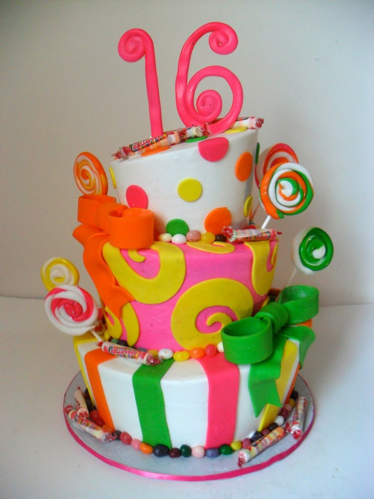 Pictures of Sweet 16 Cakes