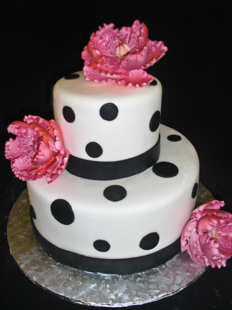 Remarkable Polka Dot Cakes Decoration Ideas Little Birthday Cakes Funny Birthday Cards Online Fluifree Goldxyz