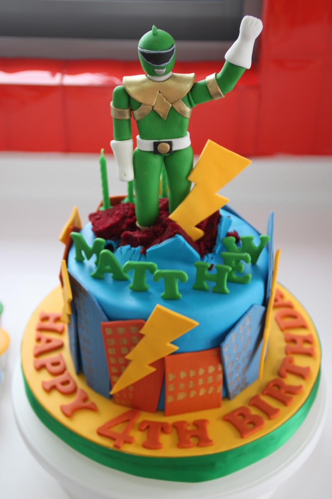 Admirable Power Ranger Cakes Decoration Ideas Little Birthday Cakes Birthday Cards Printable Opercafe Filternl