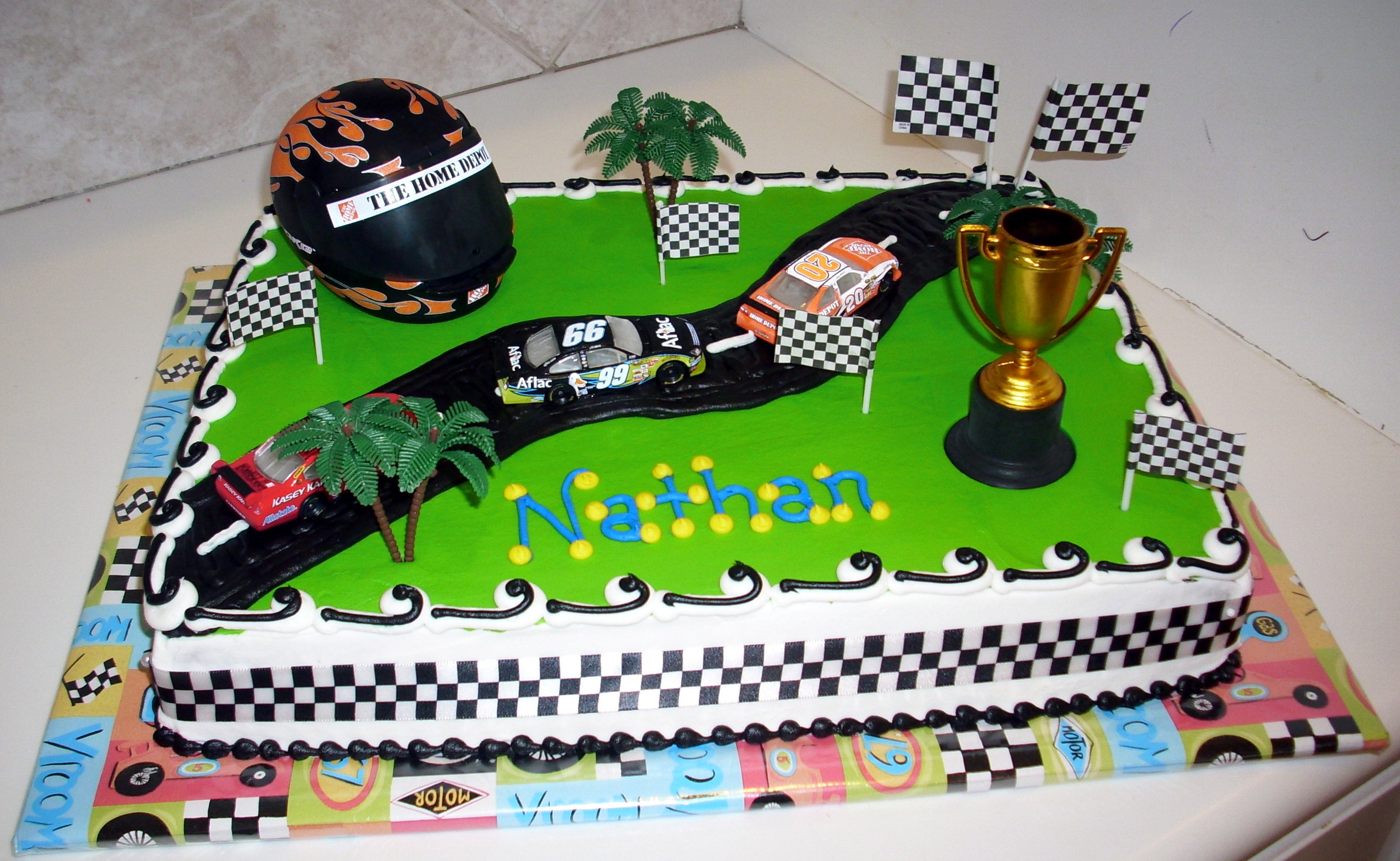 Fantastic Race Track Cakes Decoration Ideas Little Birthday Cakes Funny Birthday Cards Online Elaedamsfinfo