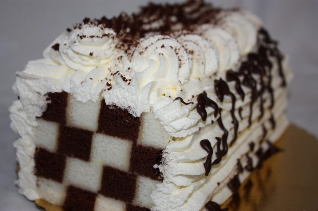 Square Checkerboard Cake