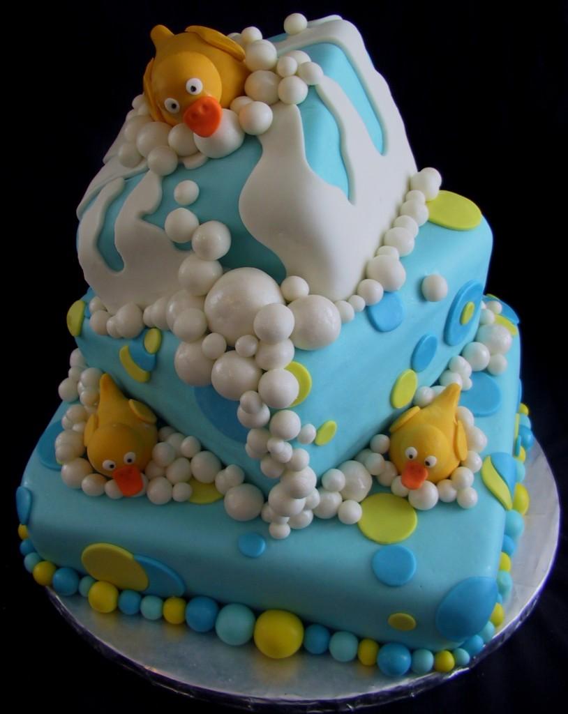 Square Topsy Turvy Cake