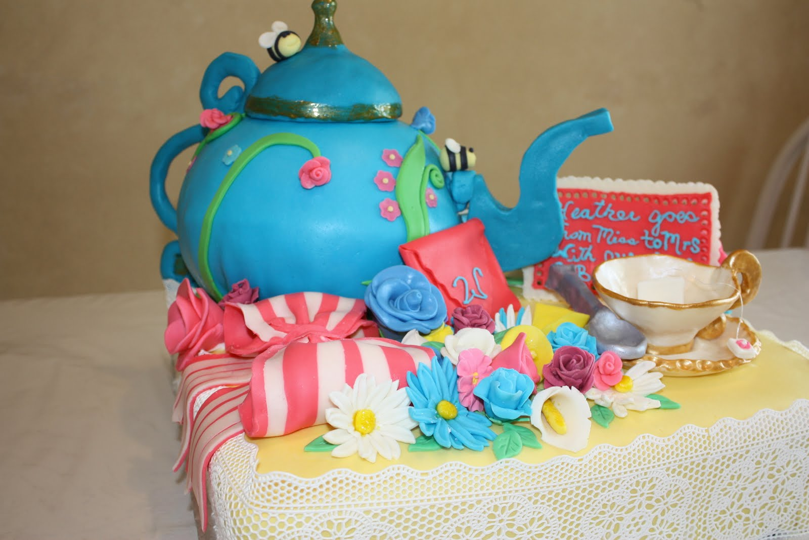 Swell Tea Party Cakes Decoration Ideas Little Birthday Cakes Personalised Birthday Cards Veneteletsinfo