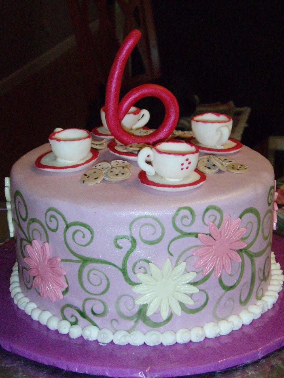 Fabulous Tea Party Cakes Decoration Ideas Little Birthday Cakes Birthday Cards Printable Benkemecafe Filternl